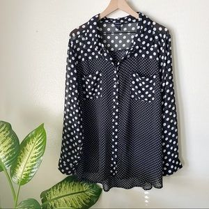 Torrid | Polka Dot Buttondown Top